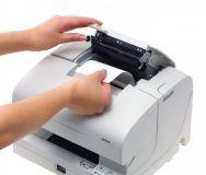 Epson TM-J 7500 - Tintenstrahldrucker USB, weiß, ohne Netzteil, inkl. Anschlußkabel 2 Stations-Tintenstrahl-Drucker (Bon / Beleg) Tinte: Schwarz