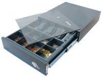 Mogler Kassenlade 38EX-KE **schwarz**, 4 liegende Fächer, inkl. Anschlußkabel und Kasseneinsatz