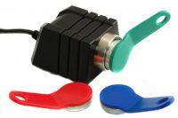 Addimat Stift-Kellnerschloss Standard schwarz, mit ASSI, Kabellänge 200cm, RS232, Dallas-Chip