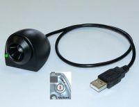 Addimat Stift-Kellnerschloss USB 2.0, schwarz, Kabel 0,5m, RS232- und Keyboard-Mode (Werkeinstellung: Keyboard-Mode)