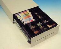 Cash Bases Kassenlade CashPlus Flexi - stehende Noten, schwarz, 8 Münz- und 6 Notenfächer + 1 Ablagefach 1 Scheckschlitz, B330mmxT427mmxH118mm
