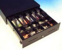 Cash Bases Kassenlade CashPlus Slimline (SL-3) - schwarz, 8 Münz- und 4 Notenfächer kein Scheckschlitz, B400mmxT420mmxH100mm