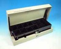Cash Bases Kassenlade CostPlus Flip Lid Modular 460 - lackiert, weiß, 8 Münz- und 4 Notenfächer + 1 Ablagefach Lid/body Scheckschlitz, B460mmxT180mmxH100mm