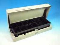 Cash Bases Kassenlade CashPlus Flip Lid Modular 460 - Edelstahl 1,2mm strukturiert, 8 Münz- und 4 Notenfächer + 1 Ablagefach 1 Scheckschlitz, B460mmxT172mmxH100mm