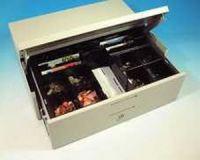 Cash Bases Kassenlade CashPlus Space Saver Flip Lid - Maxi-Lade, weiß, 8 Münz- und 8 Notenfächer + 2 Ablagefächer 2 Scheckschlitze, B492mmxT363mmxH150mm