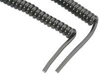 Honeywell Kabel, coiled RS-232, Connector: 9 Pin F, Netzteilbuchse, Länge: 2,4m für HHP3800, 4820 *** mit Netzteilbuche ***