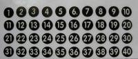 Addimat Stift-Aufklebenummern 1, 2, 3, 4, 5, 6, 7, 8, 9, 10 für Addimat Kellnerstifte